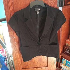 H&M short sleeve blazer jacket size 12